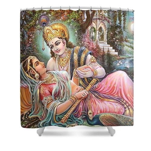 Radha Krishna Oil Canvas Painting